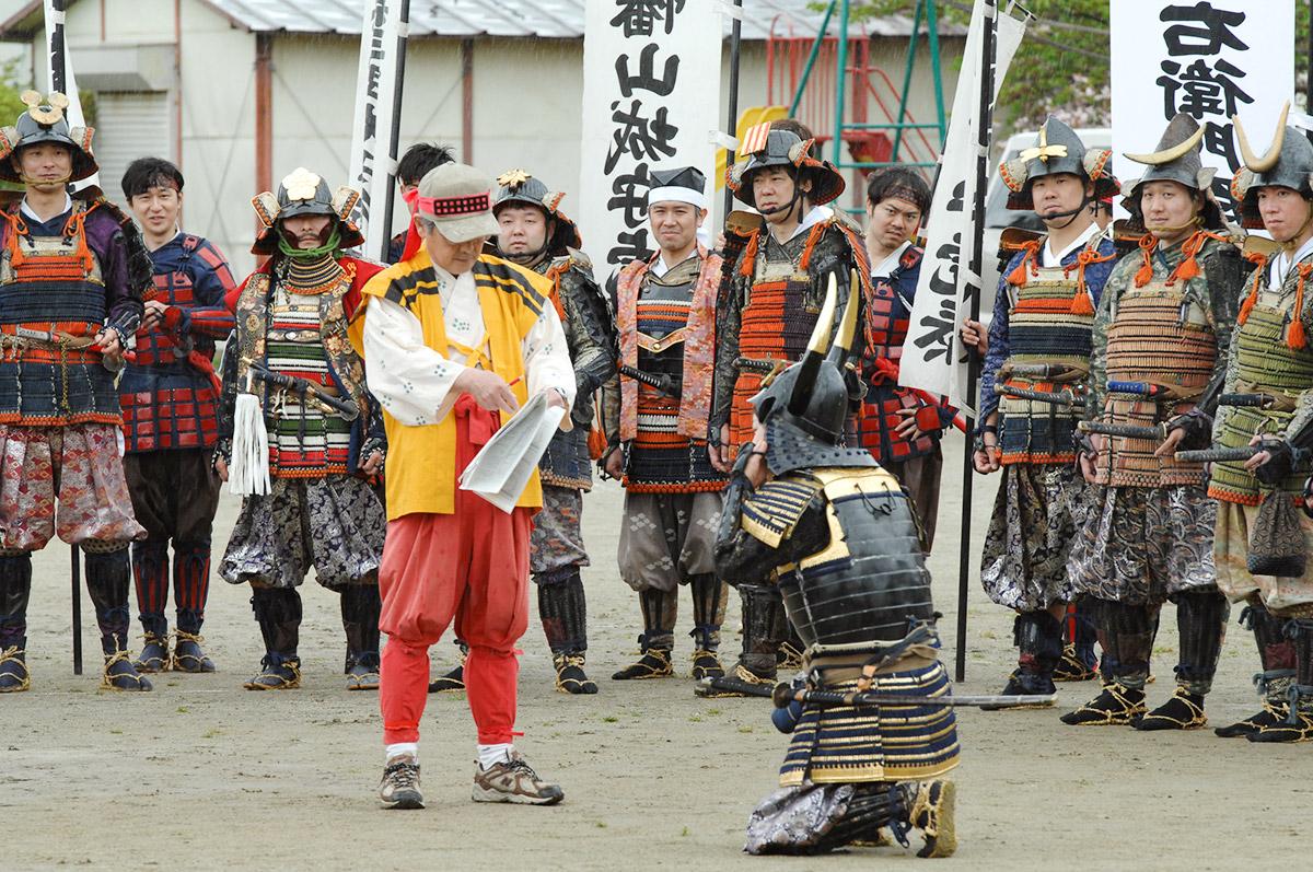 武田軍でのリハーサル、山本勘助役に綿密な指示
