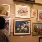 笛吹市青楓美術館内ぶどう畑のアートギャラリー11月の展示は雨宮大和作品展「和紙ちぎり絵」