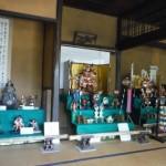 八田家書院で「武者飾り」が始まりました
