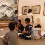 津田青楓の作品を一宮北小学校3年生が模写しました